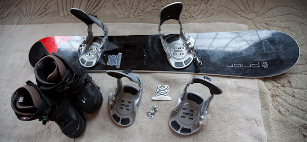 snowboard bindings.